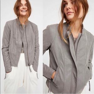 Free People Cool & Clean Vegan Moto Jacket
